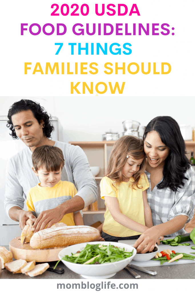 USDA Dietary Guidelines for Families