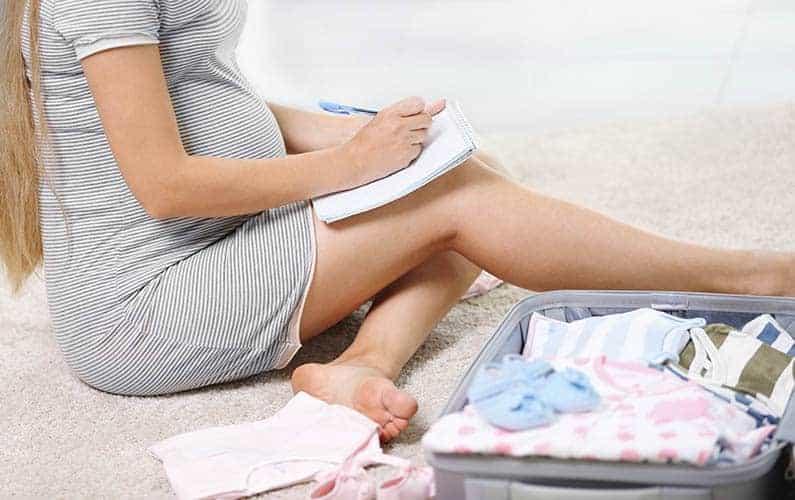 natural childbirth checklist