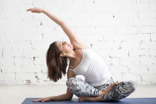Side Seated Yoga Pose