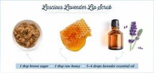 lavender lip scrub