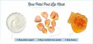 rose petal lip mask