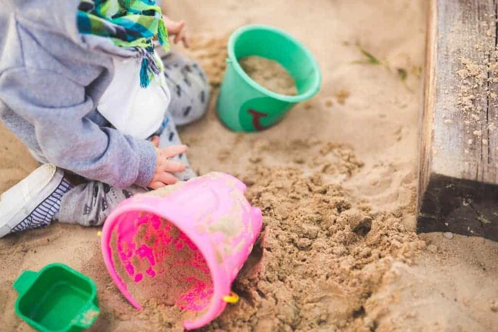 toddler activities: sand digging