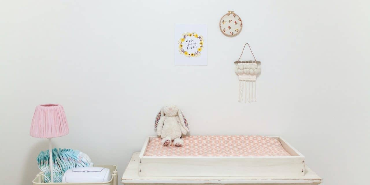 Changing Table Organizer Ideas for Baby's Nursery
