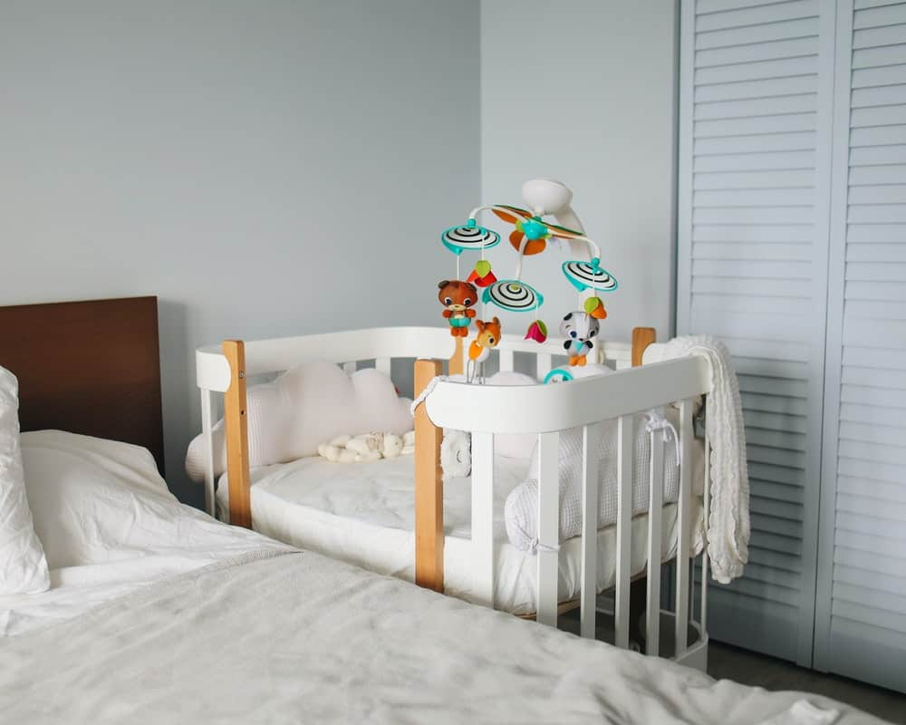 sharing small bedroom with baby
