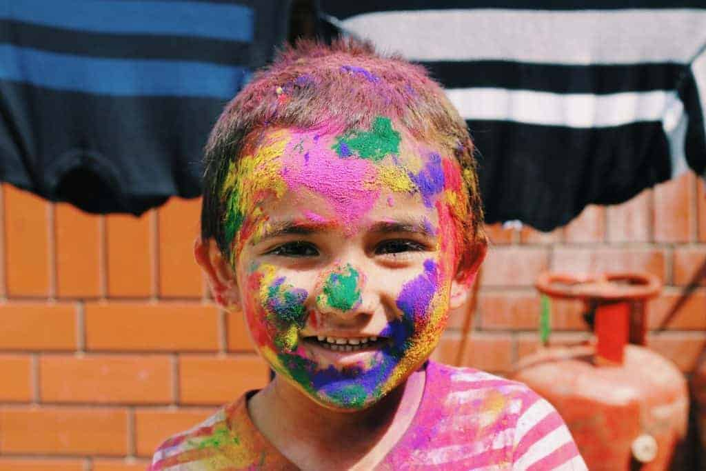 toddler activities: sponge painting